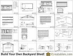 cene storage shed plans 12x24