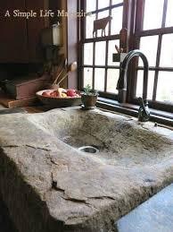 badezimmer im hauptgeschoss steinwaschbecken auf der tisch
