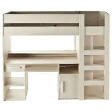 lit enfant bureau lit superposé et mezzanine 90x200 cm conforama