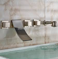 Wall Mounted Bathroom Faucets Brushed Nickel by Inspiring Wall Mount Tub Faucet Brushed Nickel Images Best