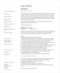 Dietitian Resume Example Template