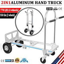 2 In 1 Folding Aluminum Hand Truck 770LBS Convertible Portable Dolly ... Shop Aleko Push Hand Truck Folding Platform Cart 4 Wheel Dolly Gemini Sr Convertible 10 Microcellular Foam Wheels Harper Trucks 700 Lb Capacity Supersteel Airgas Remarkable Bronze With Dollies At Jr Alinum 2 In 1 To Maxiton Iron Tube Hand Truck Isl300 With 4pu Wheel Magliner Hrk55aua42 Selfstabilizing Vertical Loop Rubbermaid Commercial Products 500 Triple Trolley 4wheel Appliance 1200 Lbs 14890 King 70 Kg155 Heavy Duty Solid