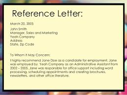 Letter of re mendation