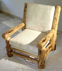 You Can Learn How To Build Log Furniture Like This Chair