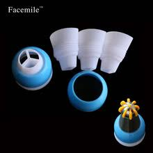 Facemile 1PC 3 Hole Icing Bag Russian Piping Tips Nozzle