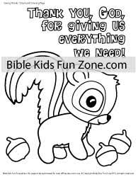 Bible Coloring Page About Giving Thanks
