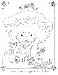 Rainbow Brite Strawberry Shortcake Birthday Coloring Books Colouring Care Bears Colour Book Digi Stamps Petra Jul