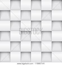 Vector White Tile Pattern Panel Background Seamless Geometric Twisted Design 3D Texture Interior Wall