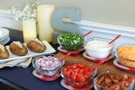 Build-Your-Own Baked Potato Bar - Evite 15 Frugal Meals For A Small Grocery Budget Baked Potato Bar Twice Potatoes With Bacon And Cheddar Simple Awesome Best 25 Ideas On Pinterest Potato Used A Fully Loaded Guide To The Ultimate Serious Eats Potatoes Baked Grilled Bar Platings Pairings Picmonkey Image 31 Office Lunch French Fry The Pioneer Woman Easy Skins Recipe Cwhound Sweet Healthy Ideas For Kids