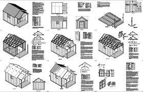 16 x 12 potting patio garden porch shed plans p71612 free
