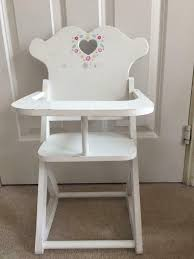 Toy Doll High Chair White Wooden With Flower Design | In Hemel Hempstead,  Hertfordshire | Gumtree Doll High Chair Executive Gray The Aldi Wooden Toys Are Back Today And The Range Is Set Of Dolls Pink White Wooden Rocking Cradle Cot Bed Matching Feeding Toy Fniture For Babies Toddlers With Harness Removable Tray Adjustable Legs Sold Crib By Cup Cake In Newton Mearns Glasgow Gumtree Olivias Nursery Centre 12 Best Highchairs Ipdent Details About World Baby Play Td0098ap Tiny Harlow Ratten Highchair Real Wood Toys 18 Inch Table Chairs Set Floral Fits American Girl Kidkraft Tiffany Bow Lil 611 Hayneedle