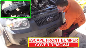 how to remove and replace the front bumper cover on ford escape