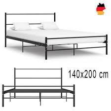 140x200 cm schlafzimmerbett metallbett bettgestell bett