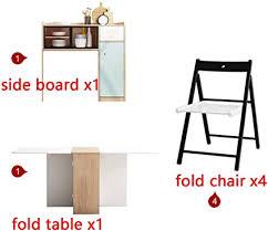 klappbarer esstisch stuhl kombination sideboard kreativ