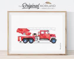 Fire Truck Wall Art Fire Engine Print Fire Truck Decor