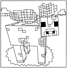 Minecraft Squid Mooshroom Coloring Pages Kids
