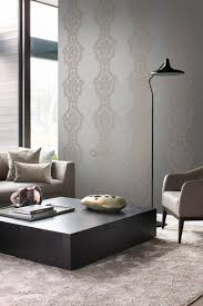 tapete ornamente taupe und messing origin