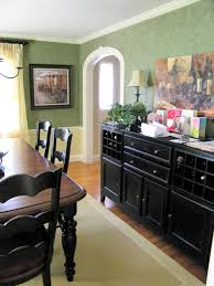 Awesome Black Kitchen Tables With Matching Buffet Lots Of Drawers And Storage Design