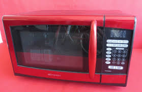 Emerson Microwave Red Black Mfg 2012