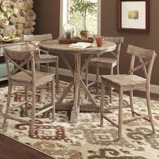 Largo Callista Rustic Casual Counter Height Dining Table Set ...