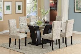 White Word Print Fabric Dining Chair