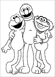Awesome Sesame Street Coloring Pages