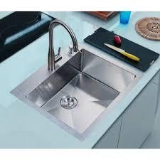 Overmount Double Kitchen Sink by Drop In Kitchen Sinks You U0027ll Love Wayfair