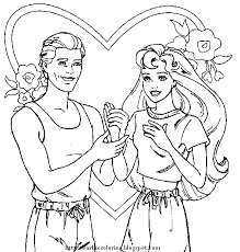 Barbie And Ken Coloring Pages To PrintKidsfreecoloring