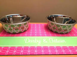 Pet Food Bowl Mats Dog Bowl Dog Food Mat Two Bowls Set Dog With