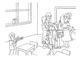 Coloring Page Music Class