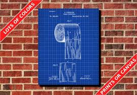 badezimmer wand kunst poster toilettenpapier patent druck