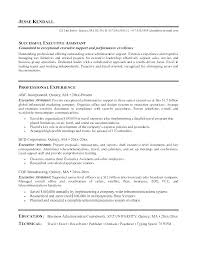Executive Assistant Resumes Examples Resume For Example Administrative