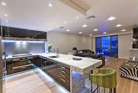 contemporary kitchen modern kitchen lights neon cabinet