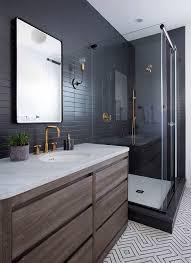 Grey Tiles Bathroom Ideas by Best 25 Modern Bathrooms Ideas On Pinterest Modern Bathroom