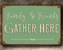 FAMILY AND FRIENDS Sign Kitchen Vintage Style Signs Family And Friends