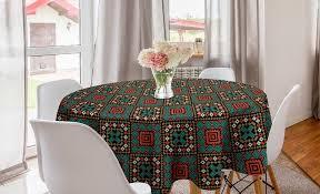 abakuhaus tischdecke kreis tischdecke abdeckung für esszimmer küche dekoration ethnisch boho kaufen otto