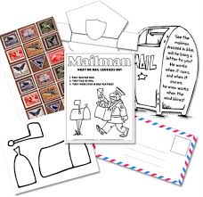 Free Homeschool Printables Kindergarten Mail Carrier Unit