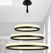 new led acrylic chandelier fixture black remote pendant