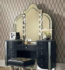 lovable makeup vanity table with lighted mirror with vanities