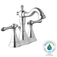 Home Depot Bathroom Faucets Chrome by Moen Eva 4 In Centerset 2 Handle High Arc Bathroom Faucet In