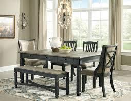 Tyler Creek Black Gray 6 Pc Rectangular Dining Room Table 2 UPH Side