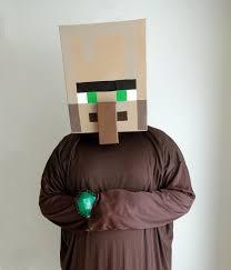 Minecraft Enderman Pumpkin Stencil by Minecraft Villager Costume For Sale