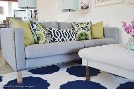 sarah m dorsey designs karlstad sofa with nailhead trim