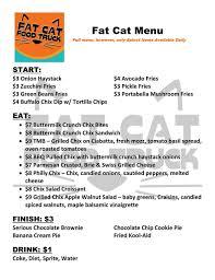 Menu — Fat Cat Food Truck