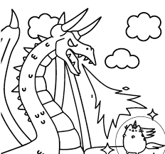 Cute Unicorn Coloring Pages To Print Fresh Kawaii Cat Refrence