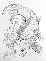 Koi Fish Coloring Pages Sketch