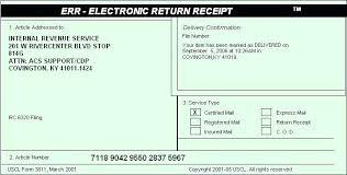 Usps Certified Mail Receipt Back A Return Receipt For A