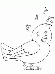 Bird Song Animals Coloring Pages