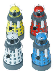 Dr Who Dalek Christmas Tree by Doctor Who Colored Dalek Ornament Set