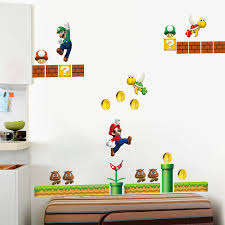 stickers muraux pour chambre classique jeu mario stickers muraux pour chambre d enfants